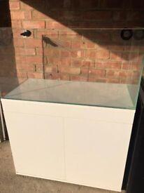 New 3ft White TMC Signature 900 Aquarium Marine tropical fish tank (delivery / installation )