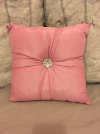 Pink diamond cushion