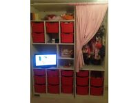 Ikea storage unit with built in wardrobe