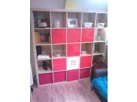 IKEA forniture - Big Kallax shelving unit + 4 x Box Drona + 6 x insert with door Kallax