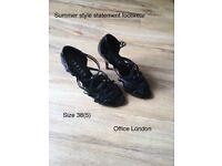 Summer footwear , Office London size 38 high heel sandals