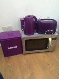 Kitchen items in purple