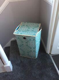Aqua laundry basket