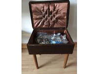 Vintage Retro Sewing Box