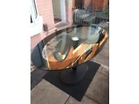 Lovely solid glass dining table great condition