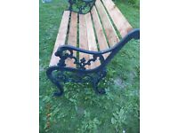 cast iron lion head bench