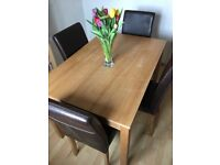 Dining table & chairs - lovely set