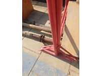 Pair of New Size 2 Adjustable Steel Builders//Decorators Trestles Band Stands Red