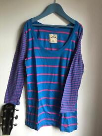 Long Sleeve Striped Hollister Top Size XS