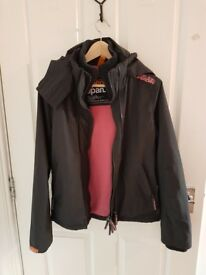 For Sale - SUPERDRY Windcheater grey and pink, size M, used, good conditions
