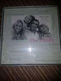 """New!!""""Family""""photo frame""""6×4"""" 15cm×10cm"""