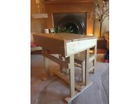 NOW SOLD! Solid Wood Children's Desk and Chair