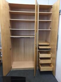 Large 3 Door Wardrobe With Storage