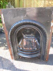 Vintage/antique cast iron bedroom fireplace. Read description for sizes.