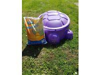Purple turtle Sandbox + one 15kg sand bag