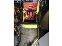 Bike trailer for baby/child - seats two. Never used.