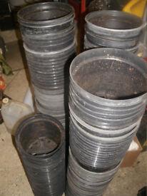 20 x 170mm Plastic Plant Pots