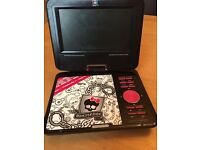 Portable Monster High DVD Player with remote and games
