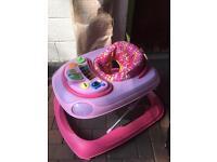 Pink chicco walker