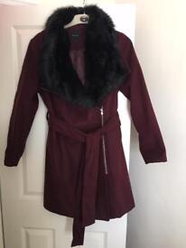 New look coat new size 16