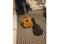 Handcrafted crafter junior jc-40 acoustic guitar very good condition and fully working