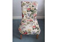 Vintage teak upholstered bedroom chair/nursing chair - charity sale