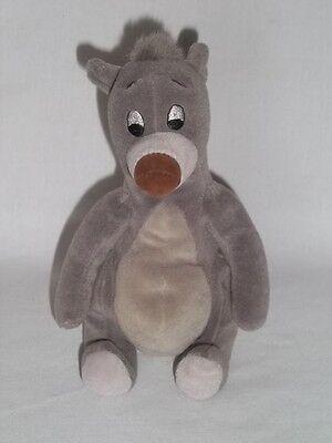 DISNEY STORE Plush BALOO BEAR BEAN BAG Stuffed JUNGLE BOOK Animal Toy