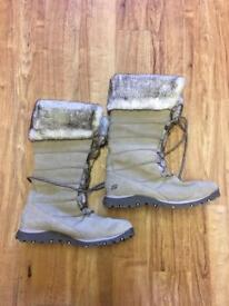 Sketchers adult lined winter boots size 7uk AS NEW