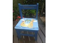 CHILDS CHAIR WITH NAME WILLIAM ON IT.