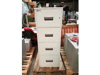 Chubb Fireproof 4 Drawer Filing Cabinet with No Key