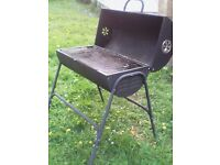 Charcoal oil drum BBQ, good condition