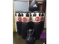 7 Quality ringside leather punch bags in fantastic condition.