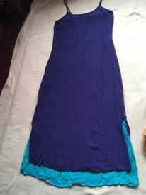 Debenhams ladies sleeveless dresses navy blue size 12 used £5