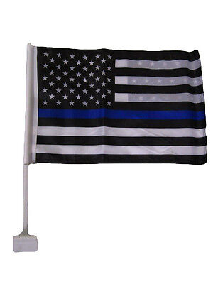 "12x18 USA Police Thin Blue Line Double Sided Car Window Vehicle 12""x18"" Flag"