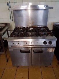 Falcon Dominator G2101 OT 6 burner and oven