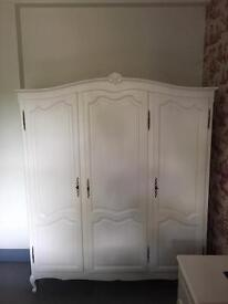 Vintage / Shabby Chic French armoire style wardrobe