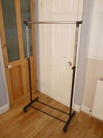 CLOTHES RAIL, HANGING RAIL. DISMANTLES IF REQUIRED