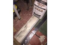 Tiles and tile adhesive