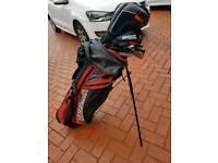 Full golf club set with bag