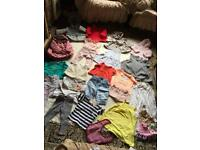 Bundle baby girl clothes 12-18 used ex condition 27 items £15