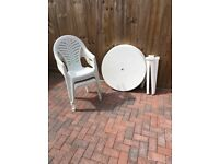 Modern Low Back Plastic Chairs Home Garden Furniture Outdoor Party Dining Chairs AND Tables