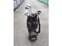 Penn golf bag and clubs