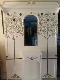 Stunning ART DECO hallway stand, Shabby Chic, vintage