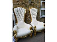 Event Hire,Throne chairs,wedding stages,venue decoration,chair hire,stage platform