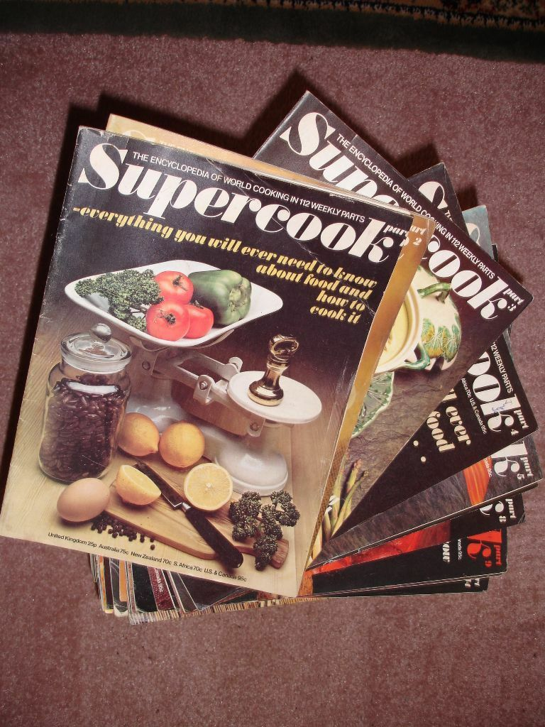 Full set of 1970s Supercook Magazines - full of recipes and cooking techniques