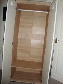 Wood single wardrobe
