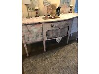 Vintage shabby chic sideboard. A little wear and tear adds to its charm