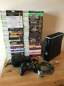Xbox 360 slim with 68 games
