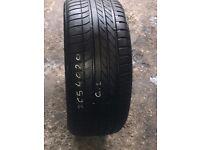 265-40-20 104Y Goodyear 6mm+ thread part worn tyre.