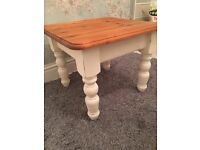Shabby chic pine coffee table